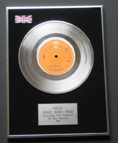 ABBA - MONEY, MONEY, MONEY PLATINUM Single Presentation DISC